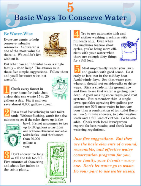 Water conservation for Top 10 ways to conserve water